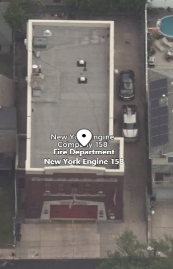 Aerial Oblique of NY Fire Station
